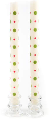 Mackenzie Childs Dot Dinner Candles, Set of 2