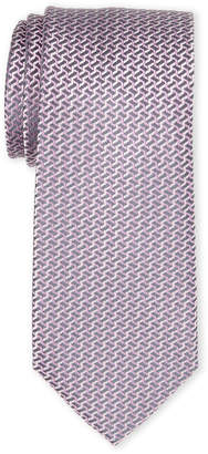 MICHAEL Michael Kors Pink Interlinked Silk Tie