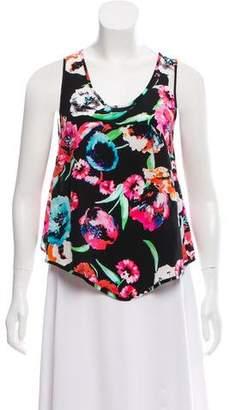 Yumi Kim Floral Print Silk Top