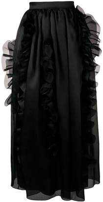 Ermanno Scervino full ruffle trim skirt
