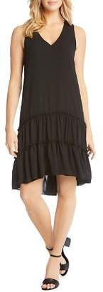 Karen Kane Tiered Drop-Waist Ruffle Dress