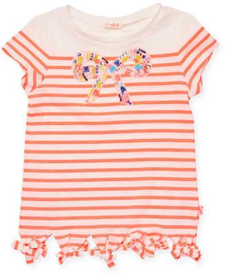 Billieblush Striped Bow T-Shirt