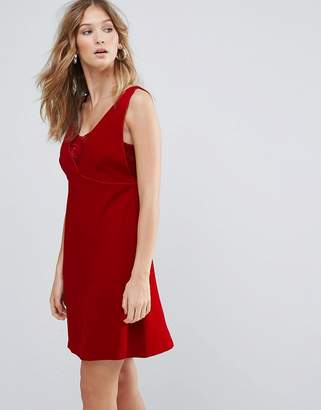Deby Debo Ezra V Neck Mini Dress