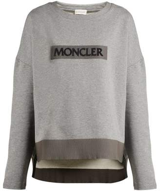Moncler Maglia Girocollo Cotton Sweatshirt - Womens - Grey