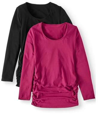 Oh! Mamma Maternity Long Sleeve Top, 2-Pack - Available in Plus Sizes