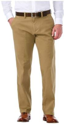 Haggar Clothing Men's Sustainable Stretch Chino Flat Front Pants 34x34