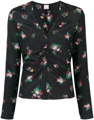 Pinko ruched floral blouse