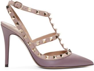 Valentino Purple Rockstud Cage Heels $995 thestylecure.com