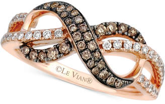 Le Vian Chocolatier® Diamond Infinity Ring (3/8 ct. t.w.) in 14k Rose Gold $2,700 thestylecure.com