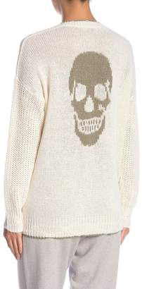 SKULL CASHMERE Joslyn V-Neck Linen Blend Sweater
