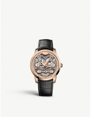 Girard Perregaux Girard-Perregaux 86000-52-001-BB6A Classic Bridges rose-gold and crocodile-embossed leather strap watch