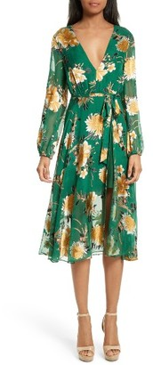 Women's Alice + Olivia Coco Floral Print A-Line Dress $440 thestylecure.com