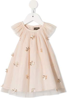 Velveteen Harper mesh peplum blouse