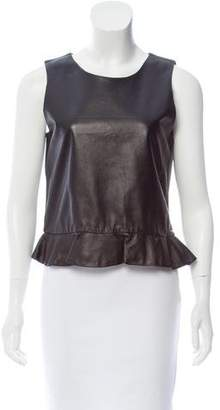 Nicole Farhi Leather Sleeveless Top