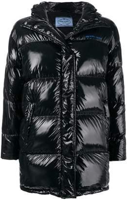 Prada logo-print puffer jacket
