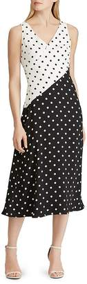 Ralph Lauren Polka-Dot Crepe Dress