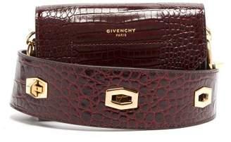 Givenchy Eden Crocodile Embossed Leather Belt Bag - Womens - Burgundy