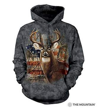 The Mountain Patriotic Buck Adult Hoodie