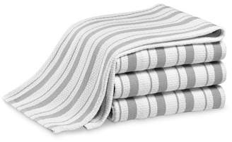 Williams-Sonoma Williams Sonoma Classic Striped Towels, Set of 4, Drizzle Grey