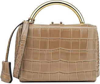 Florian London Croc-Embossed Leather Box Bag