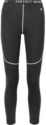 Perfect Moment - Printed Polartec Stretch Ski Leggings - Black