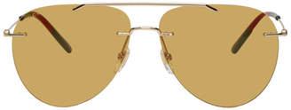 Gucci Gold Rimless Pilot Sunglasses