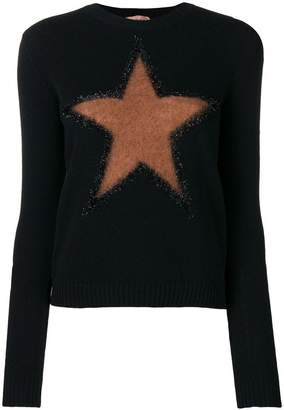 No.21 star motif wool-blend sweater