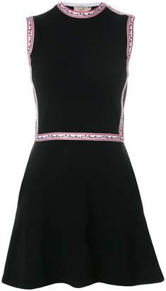 MAISON KITSUNÉ floral stripe dress