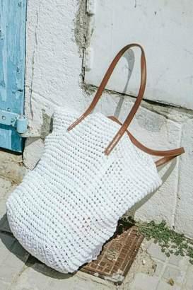 Love Stitch Raffia Bucket Bag
