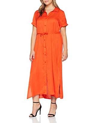 Glamorous Curve Women's Ladies Midi Dress (Orange Ora), (Size: Xx-Large)