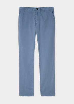 Paul Smith Men's Slim-Fit Light Blue Stretch Pima-Cotton Chinos
