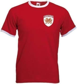 Invicta Screen Printers Men's London Welsh Rugby Union Team Retro Style T Shirt