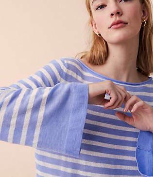 Lou & Grey Striped Dolman Sweater
