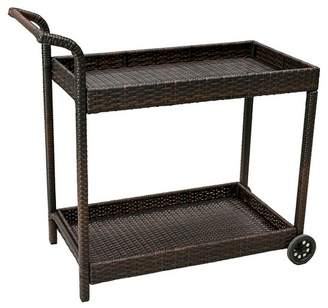 Christopher Knight Home Savona Wicker Outdoor Serving Cart - Brown