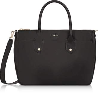 Furla Onyx Saffiano Leather Mediterranea Medium Satchel Bag