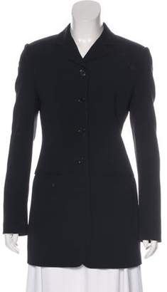 Dolce & Gabbana Virgin Wool Longline Blazer Black Virgin Wool Longline Blazer