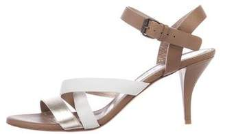 Lanvin Colorblock Leather Sandals