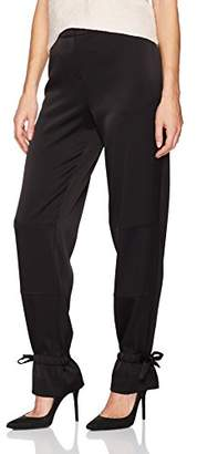 BCBGMAXAZRIA Women's James Woven Cargo Pants with Tie Detials