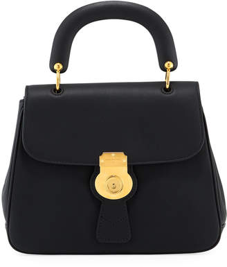 Burberry Trench Large Leather Top-Handle Satchel Bag, Black