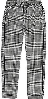 River Island Boys grey check pants