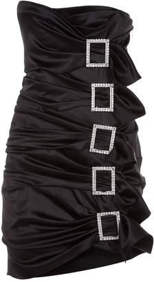 Alexandre Vauthier Buckled Strapless Mini Dress