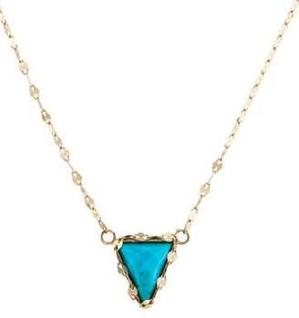 Lana 14K Turquoise Bliss Triangle Necklace