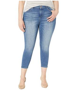 DL1961 Plus Size Florence Crop Mid-Rise Skinny Mid Blue in Everglade