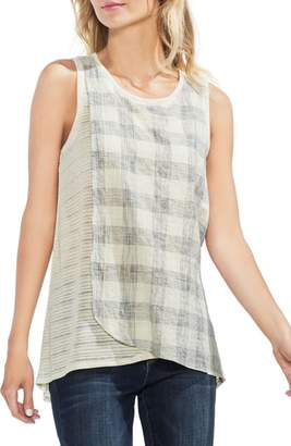 Vince Camuto Mixed Texture Tank