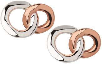 Links of London Sterling Silver and Rose Gold 20/20 Double Ring Earrings