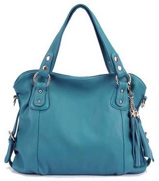 D Major Womens Stylish Leather Hobo Bags with Tassels Shoulder Bag Handbag