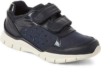 Geox Toddler/Kids Girls) Navy Sukie Shimmer Low-Top Sneakers