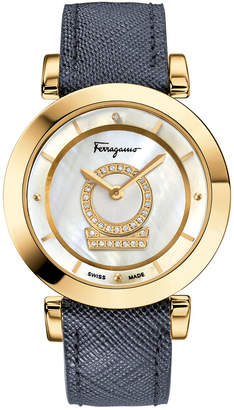 2406074ed2cc2 Salvatore Ferragamo Womens Diamond Minuetto Watch