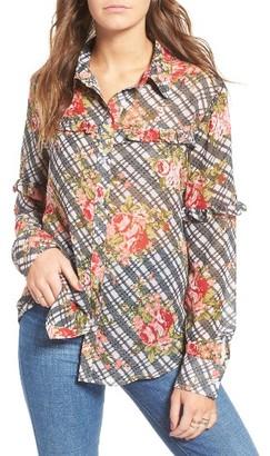 Women's Mimi Chica Ruffle Blouse $39 thestylecure.com