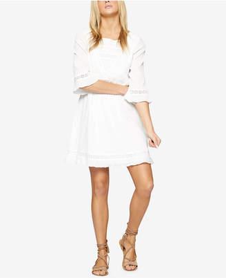 Sanctuary Ellie Eyelet-Trim Pleated Dress